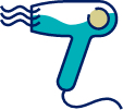 Teal Hairdryer Icon